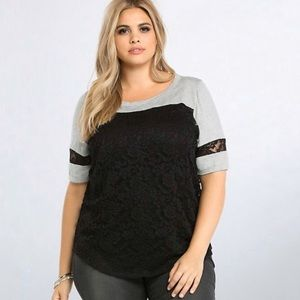 Torrid • Lace Football Top